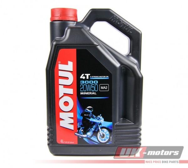 """MOTUL Motorenöl 4T """"3000"""" 20W50 mineralisch 4 Liter"""