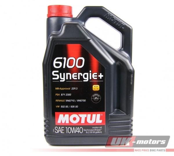"MOTUL Motoröl 4T ""6100 Synergie+"" 10W40 5 Liter"