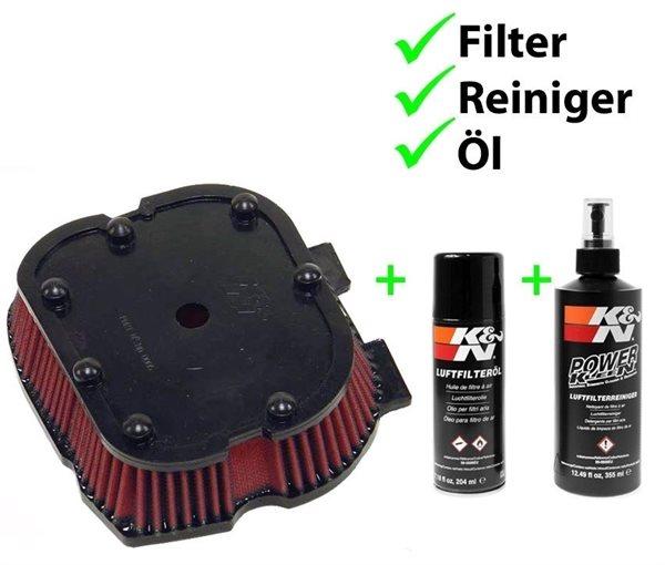 K&N Set Luftfilter + Reiniger + Öl