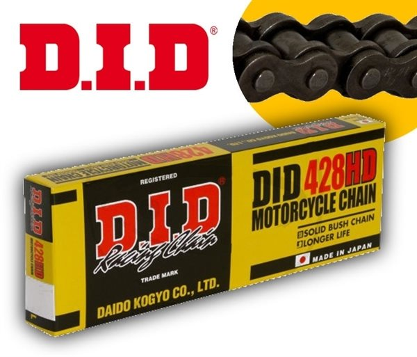 DID Standard-Kette HD 428 Teilung 140 Glieder offen mit Clipschloss DID428HD/140