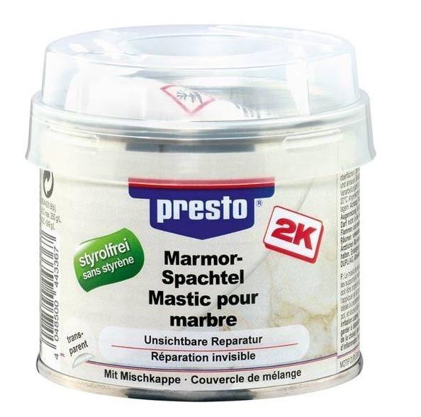 presto 2K Marmorspachtel inkl. Härter 443367 200g Marmor Granit Terracotta styrolfrei