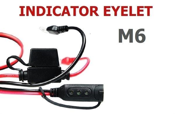 CTEK Ladezustandsanzeige / Comfort Indicator mit Ringkabelschuhen M6