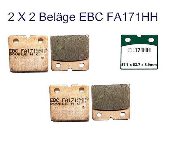 2X EBC Goldstuff Sintermetall Bremsbeläge FA171HH