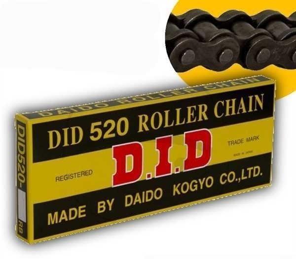 DID Standard-Kette 520 Teilung 114 Glieder offen mit Clipschloss DID520/114RB