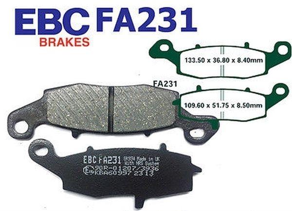 EBC Blackstuff Standard Bremsbeläge FA231