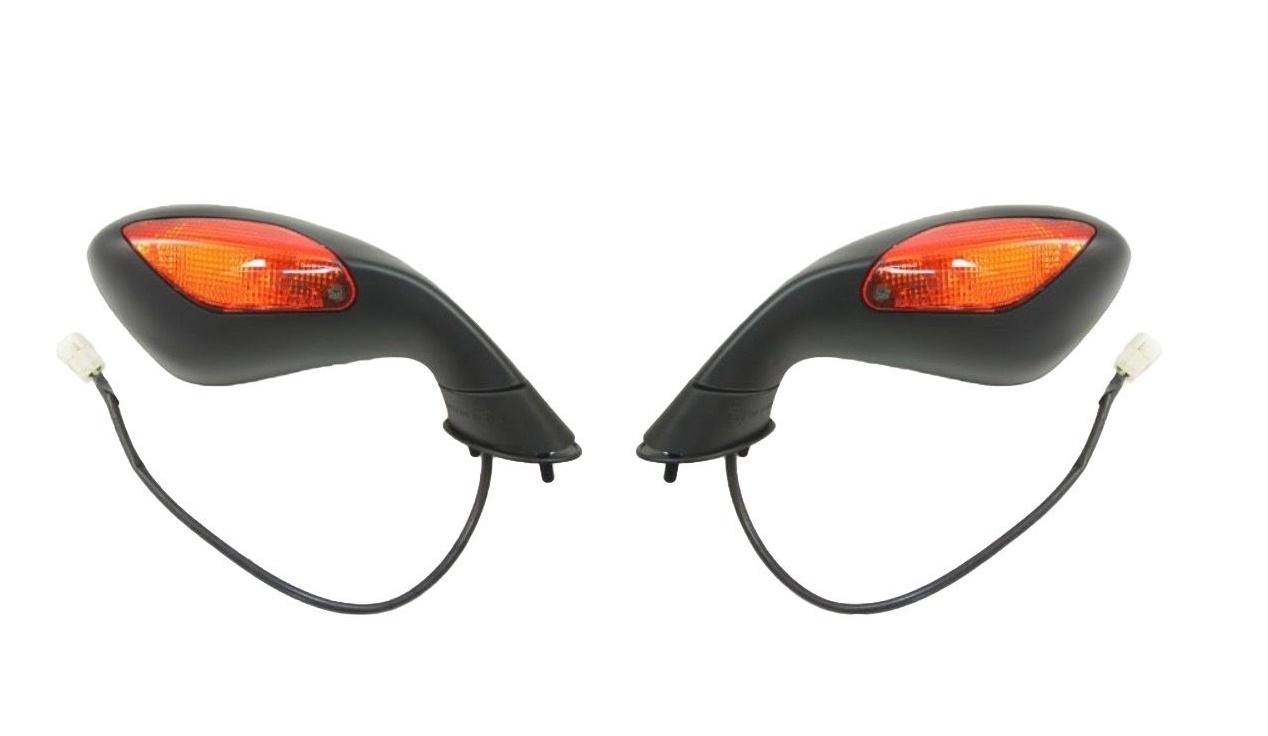 Spiegel links mit Blinker schwarz E-geprüft für Aprilia RSV 1000 R Factory