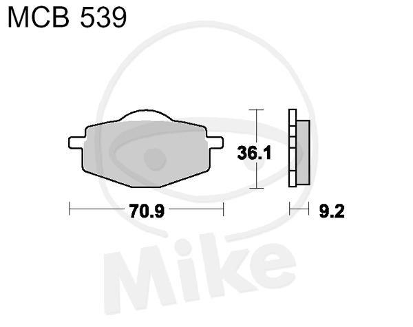 TRW Lucas Scooter Bremsbeläge MCB539EC