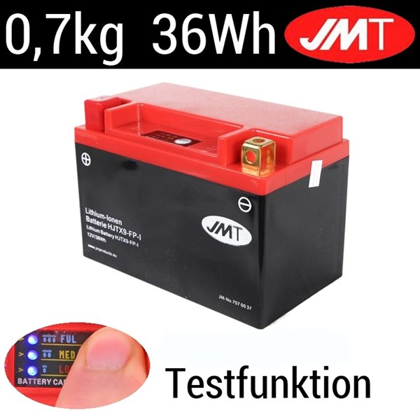 JMT YTX9-BS / HJTX9-FP Lithium Ionen Batterie mit Indicator