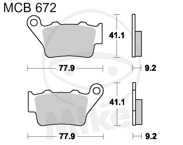 TRW Lucas Standard Bremsbeläge MCB672LF