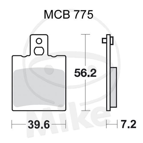 TRW Lucas Bremsbeläge MCB775