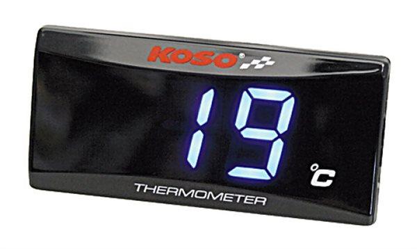 Thermometer KOSO für öl-, oder Wassertemperaturanzeige, 0-120° C, mit Temperaturwarnung BA024B10