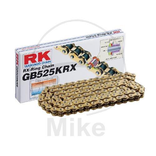 RK X-Ringkette KRX gold / schwarz 525 Teilung 116 Glieder endlos / geschlossen GBRK525KRXE/116
