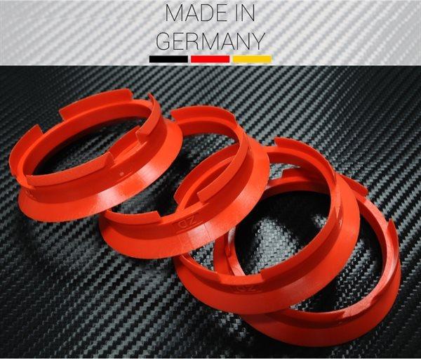 4 X Zentrierring Z03D ROT 63,4 mm x 57,1 mm