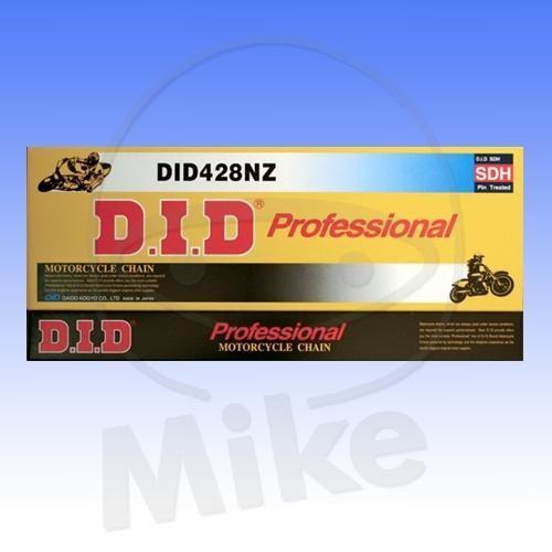 DID Standard-Kette NZ 428 Teilung 116 Glieder offen mit Clipschloss DID428NZ/116