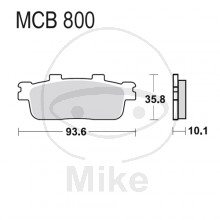 TRW Lucas Bremsbeläge MCB800