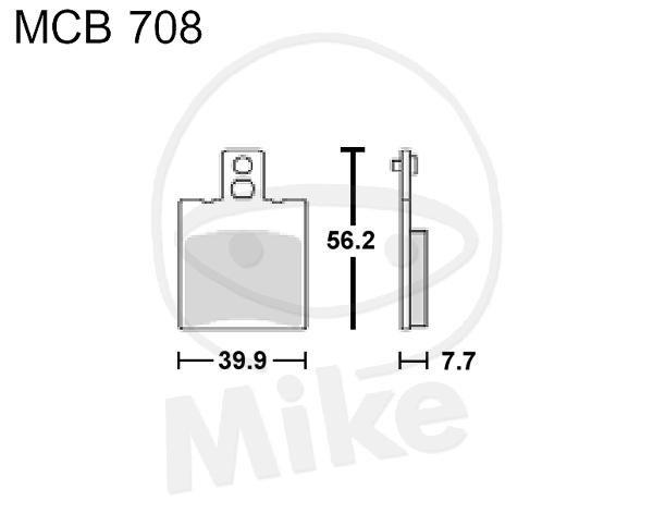 TRW Lucas Scooter Bremsbeläge MCB708EC