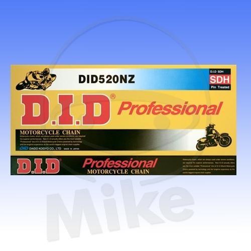 DID Standard-Kette NZ 520 Teilung 108 Glieder offen mit Clipschloss DID520NZ/108