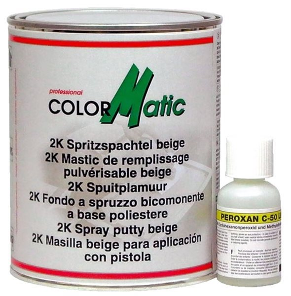 Colormatic 2K Spritzspachtel 1,47 Kg + Härter 0,03 Kg 702525