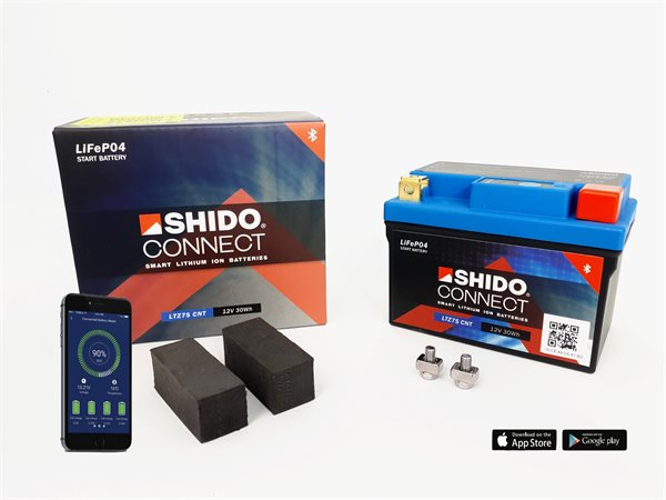 Shido Connect Smart Lithium Ionen Batterie LTZ7S CNT