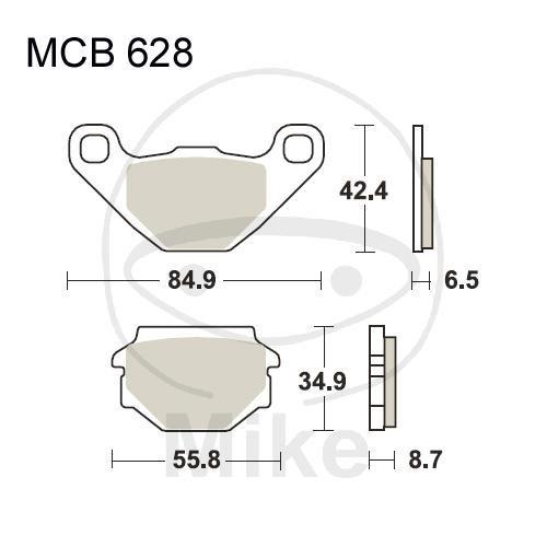 TRW Lucas Bremsbeläge MCB628