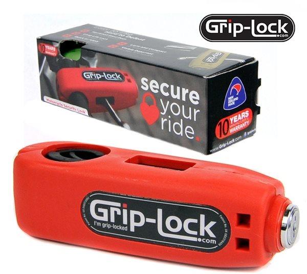 Grip-Lock ROT Diebstahlsicherung Wegfahrsperre Motorrad Bike Scooter Roller