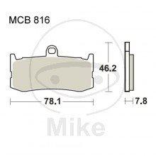 TRW Lucas Carbon CRQ Bremsbeläge MCB816CRQ