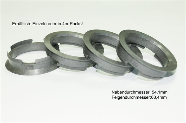 1 X Zentrierring Z06D SILBER 63,4mm x 54,1mm