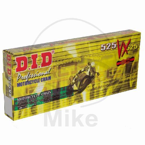 DID X-Ringkette VX gold / schwarz 525 Teilung 114 Glieder endlos / geschlossen DID525VXGB/114LE