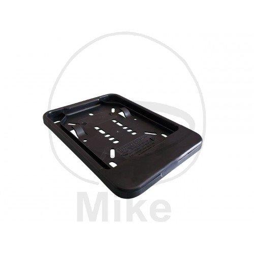 Kennzeichenhalter schwarz 135x110mm ohne Werbung
