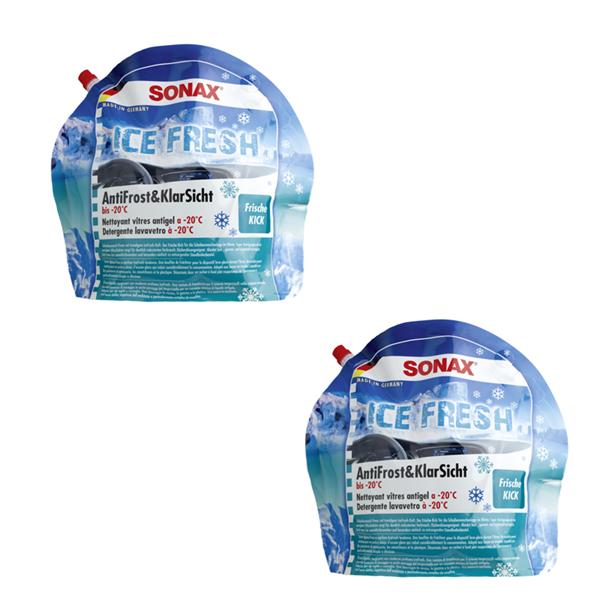 2 X SONAX Antifrost&KlarSicht bis -20°C IceFresh 133441 à 3 Liter Frostschutz