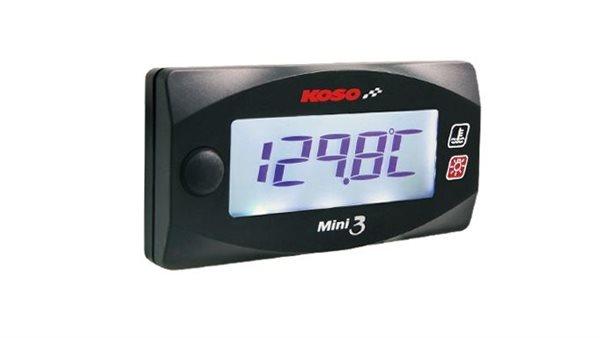 Koso Mini 3 Style Meter mit 2 Temperaturanzeigen