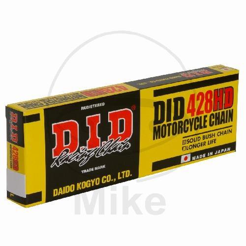 DID Standard-Kette HD 428 Teilung 146 Glieder offen mit Clipschloss DID428HD/146