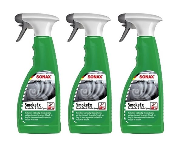 3 X 500ml SONAX SmokeEx Geruchskiller & Frische-Spray 292241
