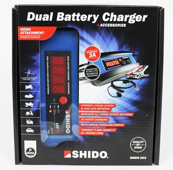 Shido Batterieladegerät DC3 Automatisches Ladegerät
