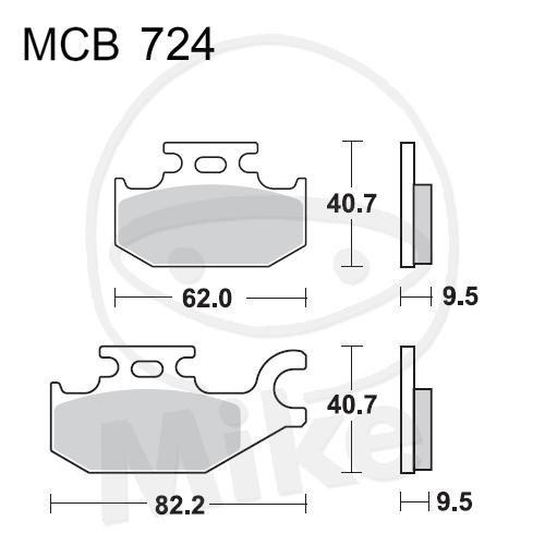 TRW Lucas Bremsbeläge MCB724