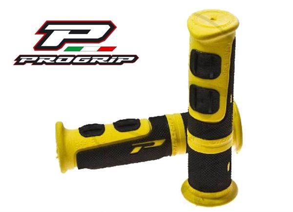 Progrip ATV Griff mit zwei Materialkomponenten gelb / schwarz 964.05