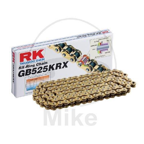 RK X-Ringkette KRX gold / schwarz 525 Teilung 116 Glieder offen GBRK525KRX/116