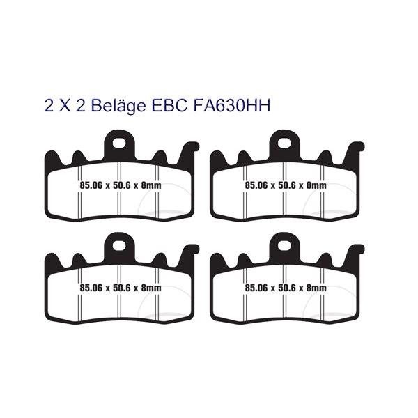 2X EBC Bremsklötze Sintermetall FA630HH