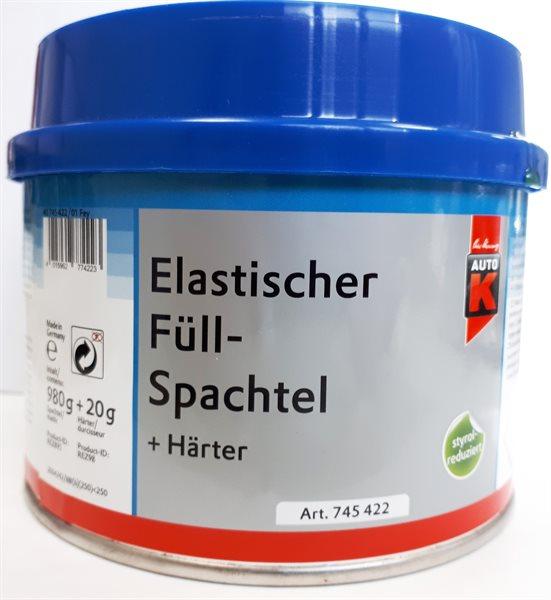 Auto K Elastischer Füll-Spachtel + Härter 745422 1000g styrolreduziert