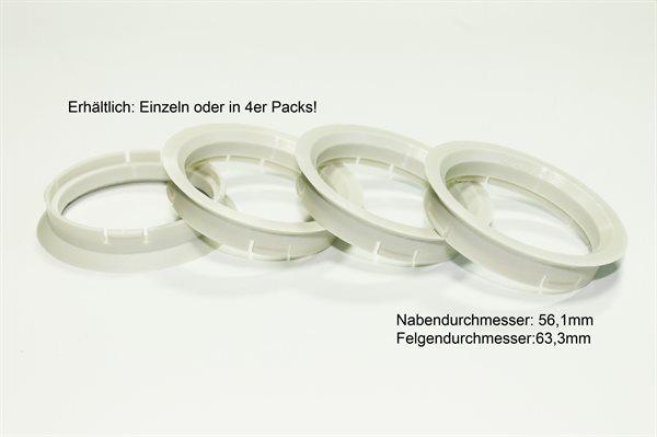 1 X Zentrierring Z05 ELFENBEINFARBEN 63,3mm x 56,1mm
