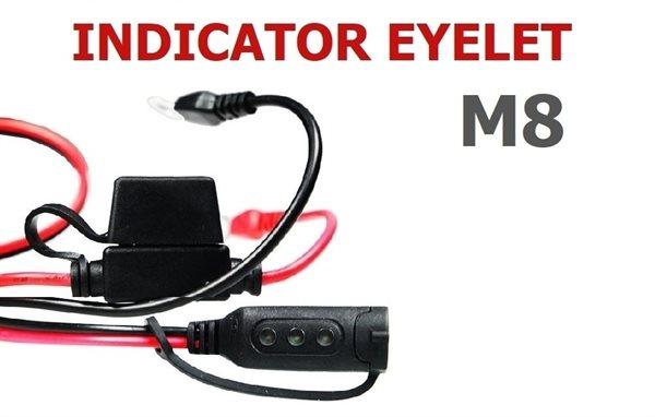 CTEK Ladezustandsanzeige / Comfort Indicator mit Ringkabelschuhen M8