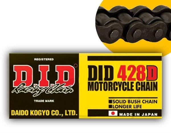 DID Standard-Kette D 428 Teilung 136 Glieder offen mit Clipschloss DID428D/136
