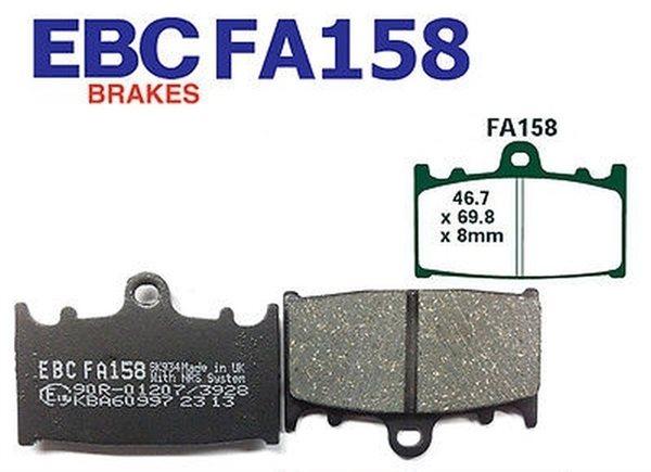 EBC Blackstuff Standard Bremsbeläge FA158