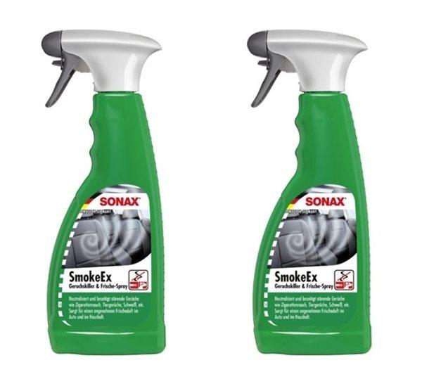 2 X 500ml SONAX SmokeEx Geruchskiller & Frische-Spray 292241