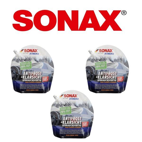 3 X 3L SONAX XTREME AntiFrost+KlarSicht bis -20°C 232441 Standbodenbeutel gebrauchsfertig