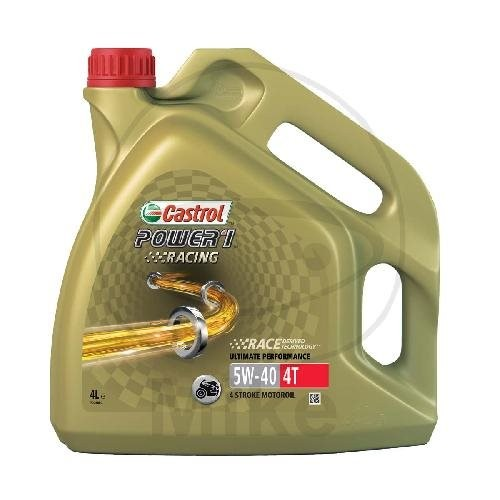 "Castrol Motoröl 4T ""Power1 Racing"" 5W40 4 Liter"