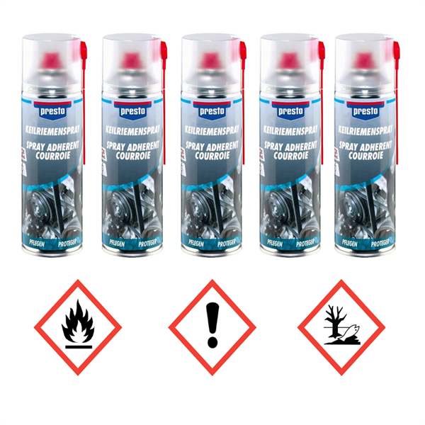 5 X presto Keilriemen-Spray 157042 à 400ml