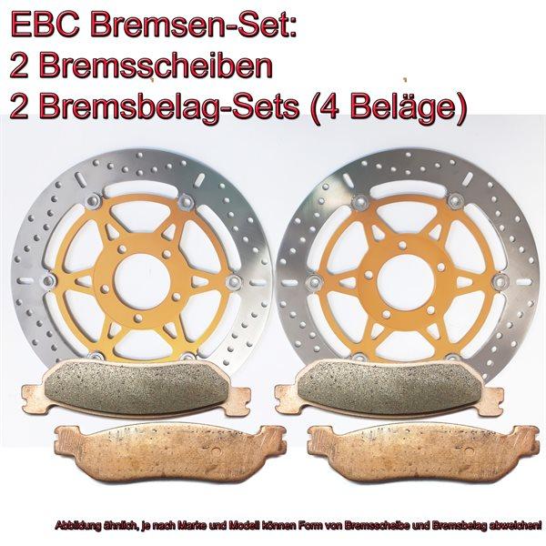 EBC Bremsen Set vorne 2x MD3058X + 2x FA158HH Sintermetall Suzuki