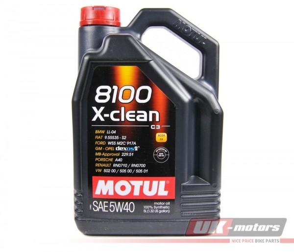 """MOTUL Motoröl """"8100 X-Clean"""" 5W40 5 Liter"""