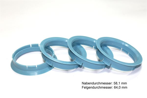 1 X Zentrierring 64,0 mm x 58,1 mm R06 BLAU